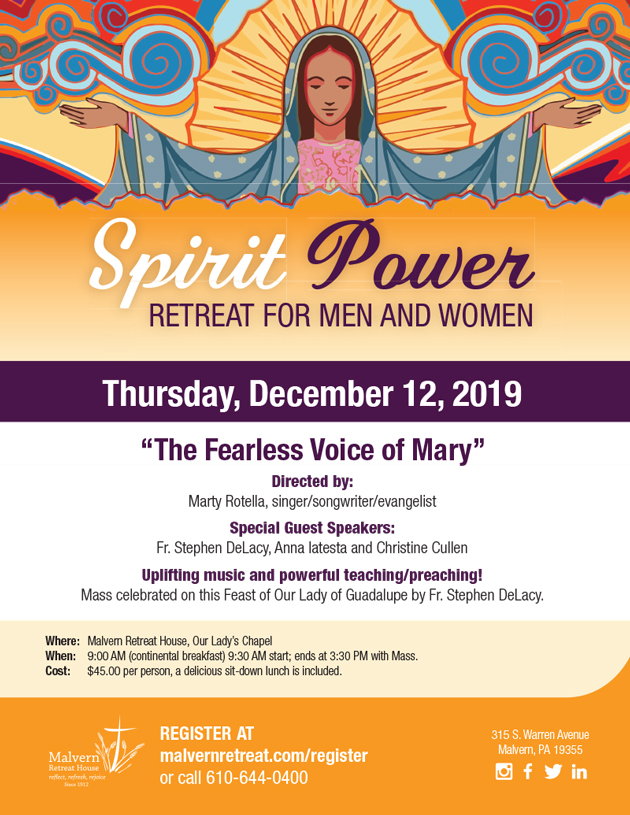 Marty Rotella - Spirit Power Retreat @ Malvern Retreat House | Malvern | Pennsylvania | United States